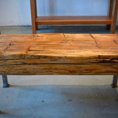 Barn Beam Bench With Arms