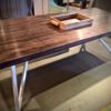 Hand Crafted Wooden & Metal Table