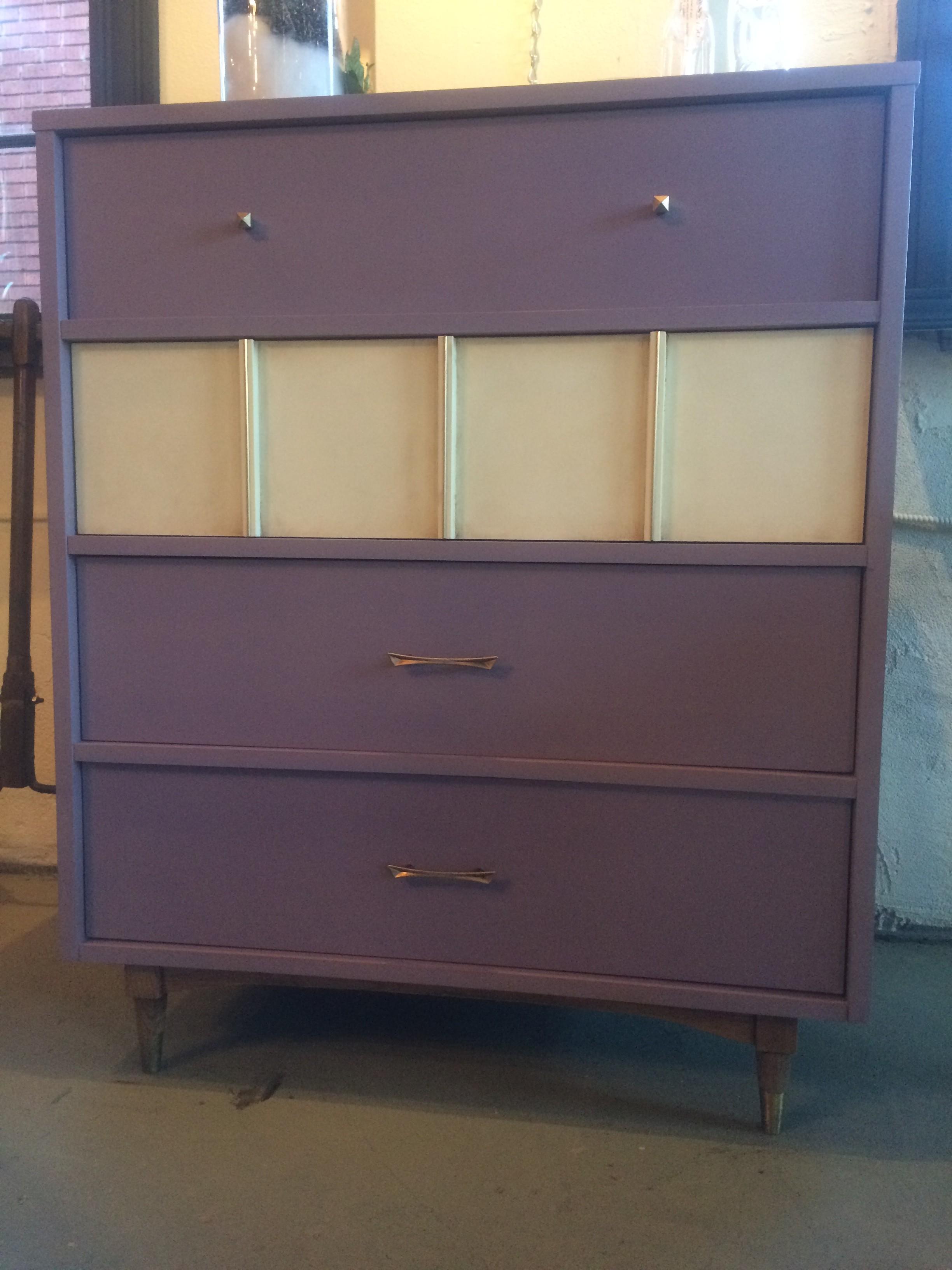 ^ Mid-entury Modern Dresser with Henrietta & Old Ochre halk Paint ...