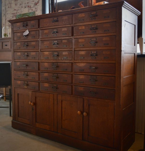 Antique Oak Card Catalogue