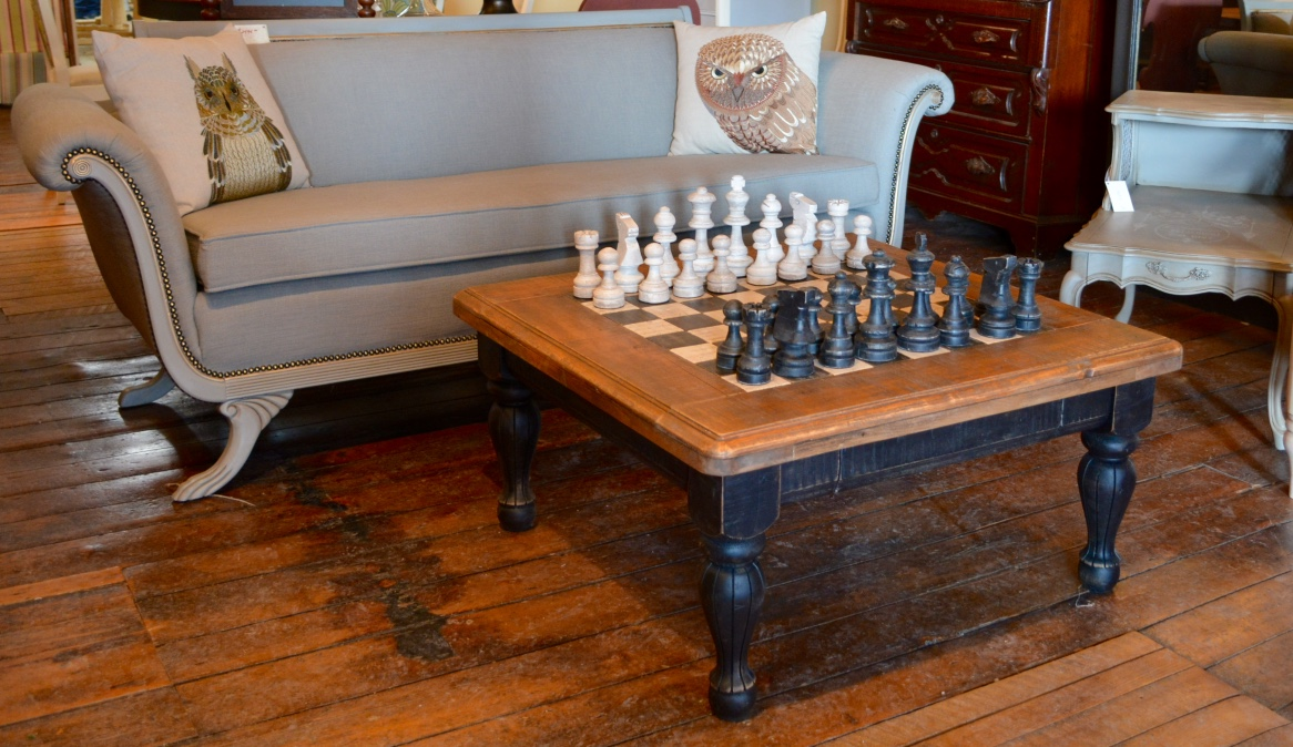 Hand Crafted Chess Table Chess Pieces Arthaus150